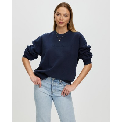 All About Eve Mika Oversized Crew Navy AL005AA35XGQ